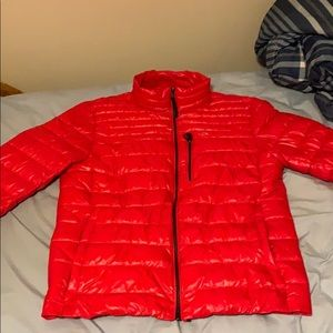 Red Calvin Klein jacket
